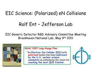 EIC Science: (Polarized)  eN  Collisions Rolf  Ent  – Jefferson Lab