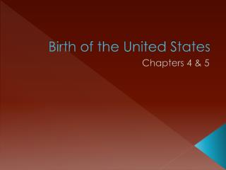 Birth of the United States