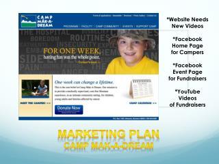 Marketing Plan Camp  Mak -A-Dream