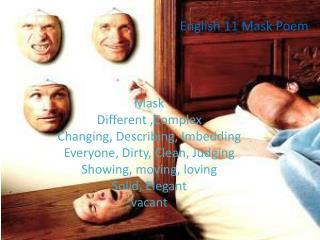 English 11 Mask Poem