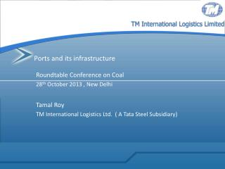 Ports and its infrastructure