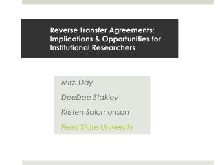 Reverse Transfer Agreements:  Implications & Opportunities for Institutional Researchers