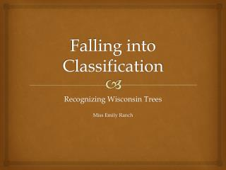 Falling into Classification