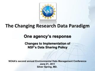 The Changing Research Data Paradigm
