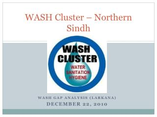 WASH Cluster – Northern Sindh