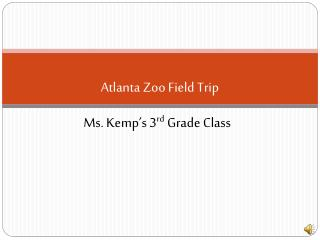 Atlanta Zoo Field Trip