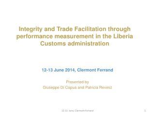 Presented by  Giuseppe  Di  Capua and Patricia  Revesz