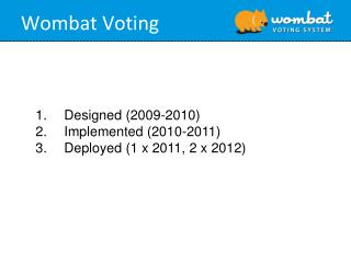 Wombat Voting