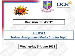 "Revision ""BLAST!"""