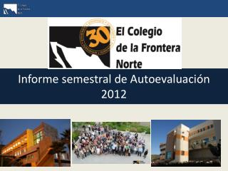 Informe semestral de  Autoevaluación 2012