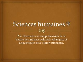 Sciences  humaines  9