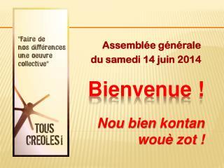 Assemblée générale du samedi 14 juin 2014