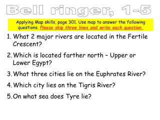 What 2 major rivers are located in the Fertile Crescent?