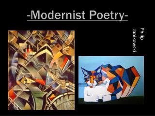 -Modernist Poetry-