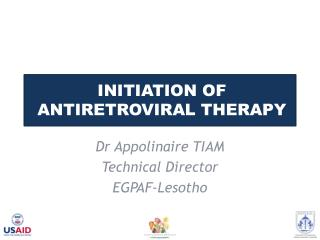 Initiation of Antiretroviral Therapy