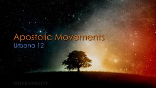Apostolic Movements