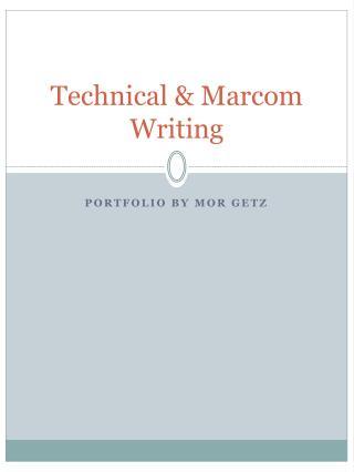 Technical & Marcom Writing