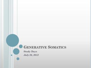 Generative  Somatics