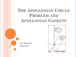 The Apollonian Circle Problem  and  Apollonian Gaskets