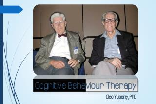 Three Generations of  Behaviour  Therapy