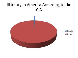 Illiteracy in  America According to the CIA