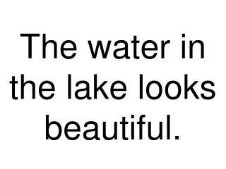 The water in the lake looks beautiful.
