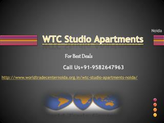 WTC Studio Apartments | WTC Studio Noida   WTC Studio Apartm
