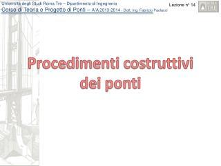Procedimenti costruttivi dei ponti