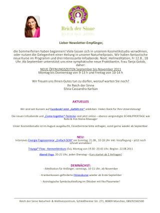 * Lieber Newsletter-Empfänger,