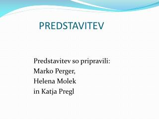 PREDSTAVITEV
