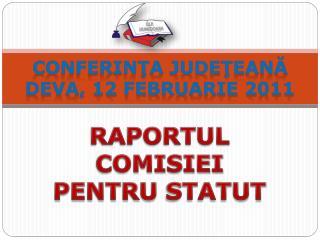 Conferinţa Judeţeană Deva, 12 februarie 2011