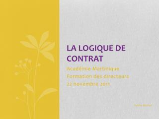 La logique de contrat