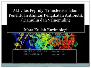 Syifa  F.  Syihab  20509004 Stevani  O. P.20509020