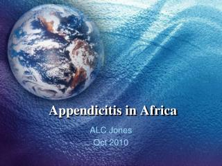 Appendicitis in Africa