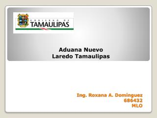 Ing. Roxana A. Domínguez 686432 MLO