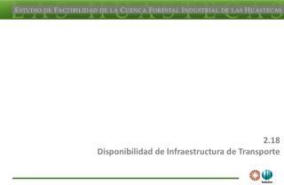 2.18 Disponibilidad de Infraestructura de Transporte