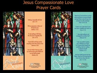 Jesus Compassionate Love Prayer Cards
