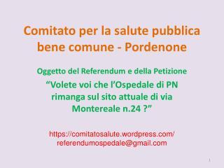 Comitato per la salute pubblica bene comune - Pordenone