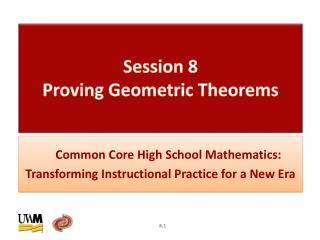 Session  8  Proving Geometric Theorems