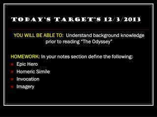 Today's Target's 12/3/2013