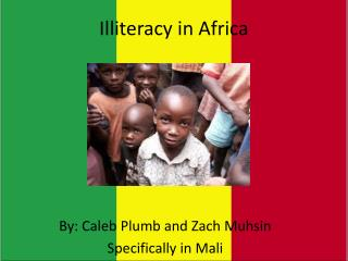 Illiteracy in Africa
