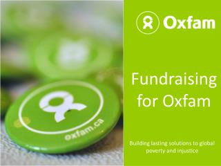 Fundraising for Oxfam