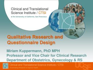 Qualitative Research and Questionnaire Design