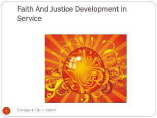 Faith And Justice Development in Service
