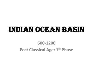 Indian Ocean Basin