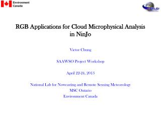 RGB Applications for Cloud Microphysical Analysis in  NinJo