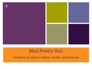 Mini Poetry Unit
