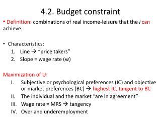 4.2.  Budget  constraint