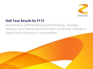 Half Year Results for FY13