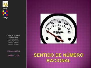 SENTIDO DE NÚMERO  RACIONAL